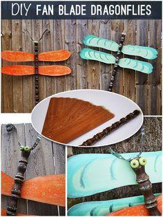 DIY garden dragonflies