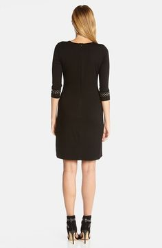 Karen Kane Black  'Audrey' Studded Sheath Dress Fashion  | Nordstrom #Karen_Kane #Black  #Audrey #Studded #Sheath #Dress #Fashion  #Nordstrom