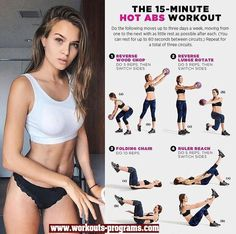 The 15 Minute Hot ABS Workout #workoutmotivationgirlstaymotivated