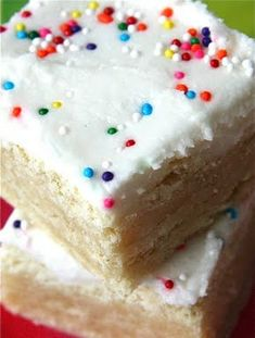 Frosted Sugar Cookie Bars. These are SO GOOD. Super easy version of your holiday favorite!!
