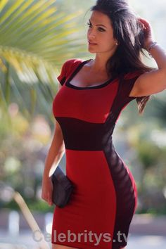 Denise Milani tight red dress - http://www.celebritys.tv/denise-milani-tight-red-dress/ #celebrities #models #babes #sexy