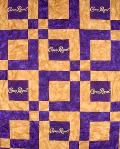 crown+royal+quilts | detail of Crown Royal quilt don't like the crown royal. Love the colors and pattern!