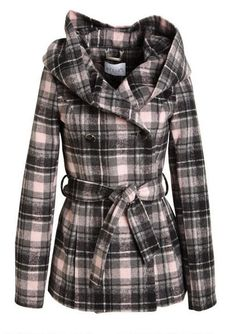 dELiAs > Oversized Hood Belted Coat > just in > shop by category > coats Fall Outfits, Cute Outfits, Fashion Outfits, Cute Coats, Belted Coat, Double Breasted Coat, My Wardrobe, Everyday Fashion, Blazer Jacket