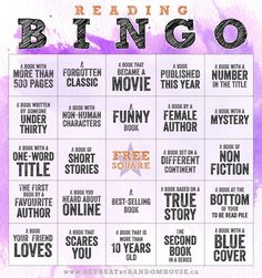 Reading bingo 2014 from Random House. Maybe a different way to do Summer Reading for Teens at our library!!!