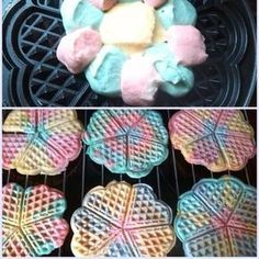 Kindergeburtstag You& planning a troll party, matching the movie? Then make rainbow-colored food - e. in the form of small waffles. Breakfast Party, Birthday Breakfast, Cute Food, Yummy Food, Unicorn Foods, Troll Party, Rainbow Food, Snacks Für Party, Food Humor