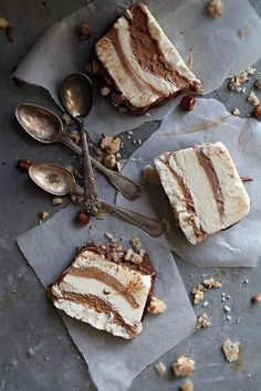 Chocolate & Vanilla Toffee Nougat Ice Cream Cake