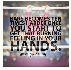 Stuff Gymnasts Say, when they're about to rip...