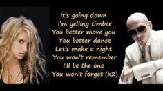 timber kesha lyrics | Pitbull Feat. Ke$ha/Kesha - Timber (Lyrics on Screen) (Full Song)