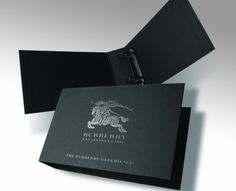 Burberry Paper Over Board Ring Binder - a creative packaging solution produced by Cedar Packaging