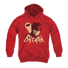 Batman Classic Tv Bat Signal Youth Pull Over Hoodie