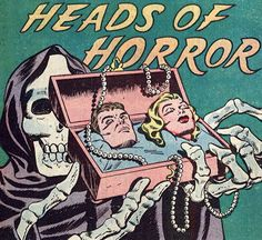 Head of Horror Pop Art Retro Horror, Vintage Horror, Space Ghost, Horror Comics, Arte Horror, Horror Art, Vintage Comics, Vintage Art, Comic Books Art