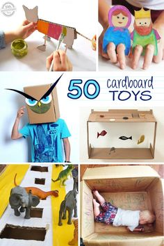www.nowcitys.com 50 Things to make with a cardboard box! DIY cardboard toys for kids to create. Kids Activities Blog!