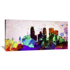 Naxart 'Minneapolis City Skyline' Painting Print on Wrapped Canvas Size: