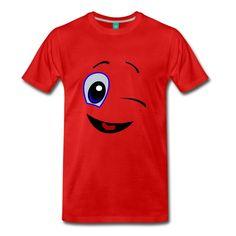 GOTCHA WINK Smiley Face Cool Emoji, Smile Design, Emoticon, Smileys, Face, Real Life, Mens Tops, Anime, T Shirt