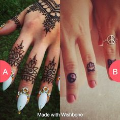 Would you get henna or real tattoos? Make yours @ http://bit.ly/getwishbone