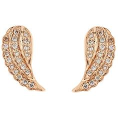Sydney Evan Diamond Mini Wing Stud Earrings ($670) ❤ liked on Polyvore featuring jewelry, earrings, wing earrings, 14k diamond earrings, sparkly earrings, 14k stud earrings and wing jewelry