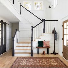 Modern French Country Home - Beautiful Chaos Companies Modern French Country, Modern Farmhouse Design, Entry Way Design, Home Decor Signs, Deco Design, Home Decor Inspiration, Decor Ideas, Cozy House, My Dream Home