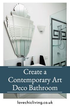 My best tips for creating a contemporary art deco bathroom using art deco lighting, mirrors, art deco bathroom vanity dressers & more. Bring a touch of Art Deco to your home with these stunning design ideas! #lovechicliving Contemporary Bathrooms, Contemporary Art, Art Deco Bathroom, Art Deco Lighting, Dressers, Mirrors, Home Accessories, I Am Awesome, Home And Family