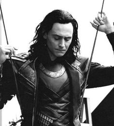 He takes on a whole other level of flair and elegance when he's Loki and black and white just enhances it
