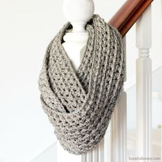 CROCHET PATTERN Basic Chunky Infinity di HopefulHoneyDesigns