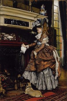 James Tissot, A Lareira, c.  1869