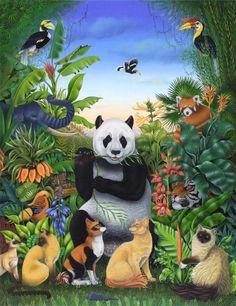 Drawing by Bernard Vercruyce (France) Animals And Pets, Cute Animals, Art Gallery, Inspiration Art, Art Original, Forest Friends, Animal Projects, Wildlife Art, Wild Life