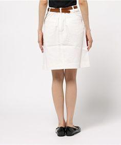 Te chichi TERRASSE(テチチ テラス)のベルト付フレアスカート(スカート)|詳細画像