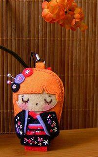 Felt Geisha Doll