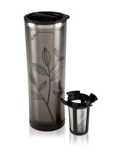 Double-Walled Stainless Steel Tea Tumbler With Infuser Basket | 16 ounces