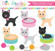 Cats Clipart – Erin Bradley/Ink Obsession Designs