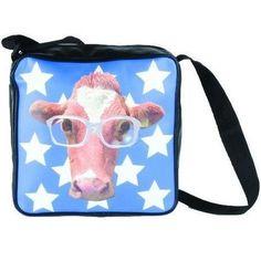 The Funky Cow Shoulder Bag - Love it! http://kidsdotravel.co.uk/childrens-backpacks-shoulder-bags-and-kit-bags/backpacks-and-shoulder-bags-for-younger-children/funky-cow-shoulder-bag