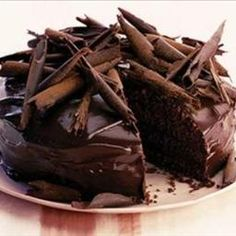 Ultimate Chocolate Cake on BigOven: Indulge yourself with Angela Nilsen's heavenly moist and fudgy chocolate cake - perfect for celebrations - birthdays, weddings, christenings - any excuse!
