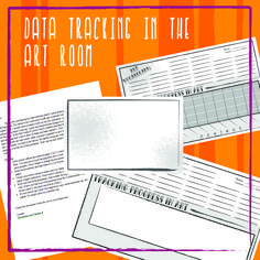 Student Data Tracking in ART!!! This graphic allows for students to track their own progress and record vocabulary. It can be used as a tool for documenting student growth! No extra work for you!!! art classroom, visual arts, art assessments, data track, art curriculum, art teacher art assessment, student data, art education, elementary art