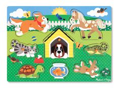 Shop for Melissa & Doug Pets Wooden Peg Puzzle Pcs). Starting from Choose from the 3 best options & compare live & historic puzzle prices. Wooden Pegs, Wooden Puzzles, Jigsaw Puzzles, Toddler Toys, Kids Toys, Articles En Bois, Promo Amazon, Puzzles For Toddlers, Melissa & Doug