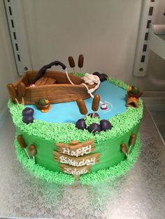 Gone Fishing Cake for Johns Bday