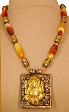 Superb Nepali Copper & Gold Plated Ganesha by SilkRoadJewelry