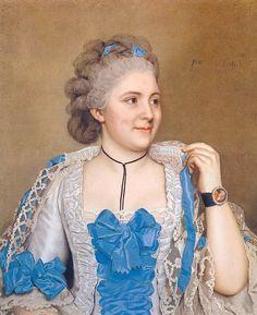 """""""Portrait of Julie de Thellusson-Ployard"""", 1760, by Jean-Étienne Liotard (Swiss, 1702-1789)."""