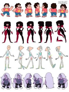 character sheet animation steven universe - Google Search