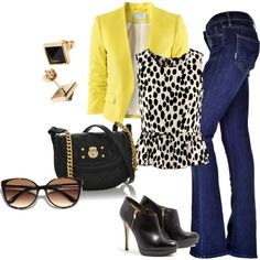 A fashion look from January 2013 featuring H&M blouses, H&M blazers and MOTHER DENIM jeans. Browse and shop related looks.