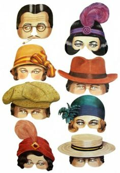 Roaring Twenties Face Masks, pack of 8