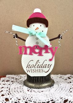 Snowman card by Dawn McVey for Papertrey Ink (October 2011).