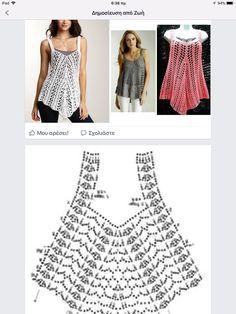 Crochetpedia: Crochet Short Dresses or Long Shirts Crochet Vest Pattern, Crochet Tunic, Crochet Crop Top, Crochet Clothes, Easy Crochet, Crochet Lace, Crochet Bikini, Tunic Pattern, Crochet Tops