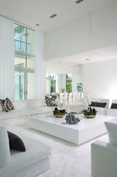 The House Is Bright With A White Living Room Design 19
