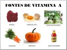 alimentos fontes de vitamina a - Pesquisa Google