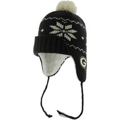 Green Bay Packers Women s Black  47 Brand Nashoba Tassel Knit Pom Hat by  47 cefa523e4d8a