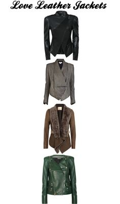 """""""Leather Jackets"""" by carem04 on Polyvore - the last one - the colour in a sleeveless jacket!"""