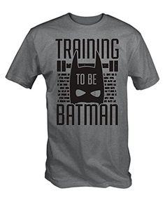 6TN Men's Training To Be Batman T-Shirt Large Ash Grey