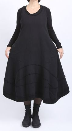 rundholz black label - Ballonkleid mit Bahnen Sweater black - Winter 2016