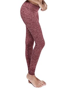 Yoga Reflex  Womens Breathable Workout Pants with Hidden Pocket RED S *** Check out the image by visiting the link.
