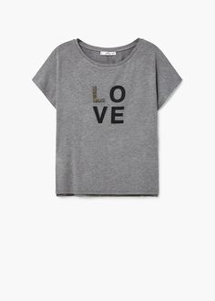 Camiseta estampada - Camisetas de Mujer | MANGO España